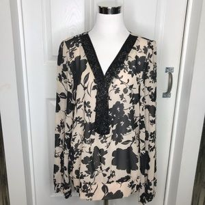 NWT Nicole by Nicole Miller Floral Blouse